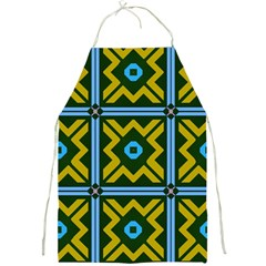 Rhombus In Squares Pattern Full Print Apron by LalyLauraFLM