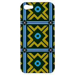 Rhombus In Squares Pattern Apple Iphone 5 Hardshell Case by LalyLauraFLM
