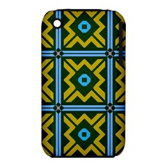 Rhombus In Squares Pattern Apple Iphone 3g/3gs Hardshell Case (pc+silicone) by LalyLauraFLM