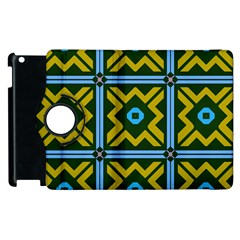 Rhombus In Squares Pattern Apple Ipad 3/4 Flip 360 Case by LalyLauraFLM