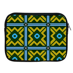 Rhombus In Squares Pattern Apple Ipad 2/3/4 Zipper Case by LalyLauraFLM