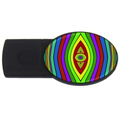 Colorful Symmetric Shapes Usb Flash Drive Oval (2 Gb)