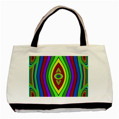 Colorful Symmetric Shapes Basic Tote Bag by LalyLauraFLM