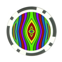 Colorful Symmetric Shapes Poker Chip Card Guard (10 Pack) by LalyLauraFLM