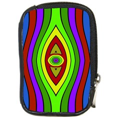 Colorful Symmetric Shapes Compact Camera Leather Case by LalyLauraFLM