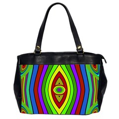Colorful Symmetric Shapes Oversize Office Handbag (2 Sides) by LalyLauraFLM