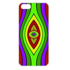 Colorful Symmetric Shapes Apple Iphone 5 Seamless Case (white) by LalyLauraFLM