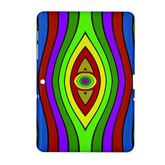 Colorful Symmetric Shapes Samsung Galaxy Tab 2 (10 1 ) P5100 Hardshell Case  by LalyLauraFLM
