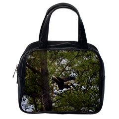 Bald Eagle Classic Handbags (one Side) by timelessartoncanvas