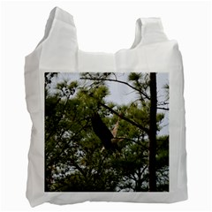 Bald Eagle 2 Recycle Bag (two Side)  by timelessartoncanvas