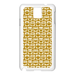 Olive And White Owl Pattern Samsung Galaxy Note 3 N9005 Case (white)