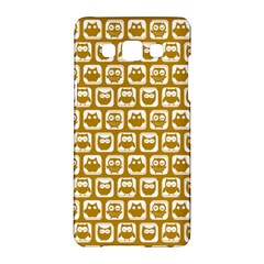 Olive And White Owl Pattern Samsung Galaxy A5 Hardshell Case  by creativemom