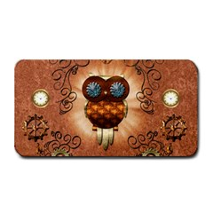 Steampunk, Funny Owl With Clicks And Gears Medium Bar Mats