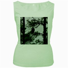 Bald Eagle 3 Women s Green Tank Tops by timelessartoncanvas