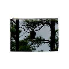 Bald Eagle 3 Cosmetic Bag (medium)  by timelessartoncanvas