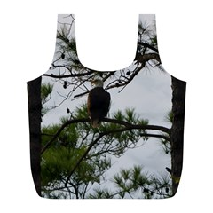Bald Eagle 3 Full Print Recycle Bags (l)  by timelessartoncanvas