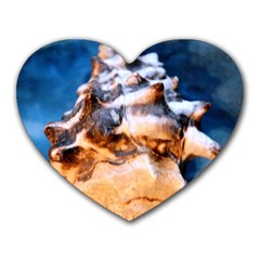 Sea Shell Spiral Heart Mousepads