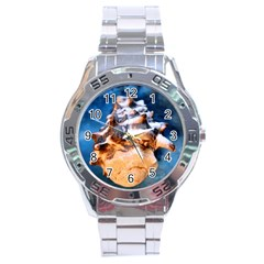 Sea Shell Spiral Stainless Steel Men s Watch by timelessartoncanvas