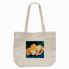 Sea Shell Spiral 2 Tote Bag (cream)  by timelessartoncanvas
