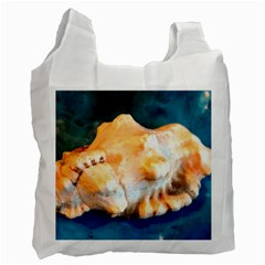 Sea Shell Spiral 2 Recycle Bag (two Side)  by timelessartoncanvas