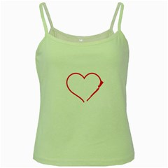 Customizable Shotgun Heart Green Spaghetti Tanks by CraftyLittleNodes