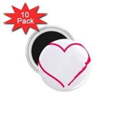 Customizable Shotgun Heart 1 75  Magnets (10 Pack)  by CraftyLittleNodes