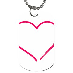 Customizable Shotgun Heart Dog Tag (one Side) by CraftyLittleNodes