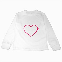 Customizable Shotgun Heart Kids Long Sleeve T-shirts by CraftyLittleNodes