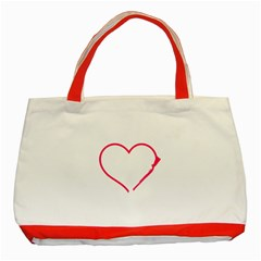 Customizable Shotgun Heart Classic Tote Bag (red)  by CraftyLittleNodes