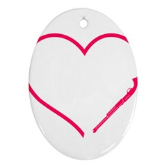 Customizable Shotgun Heart Oval Ornament (two Sides) by CraftyLittleNodes