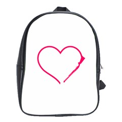 Customizable Shotgun Heart School Bags(large)  by CraftyLittleNodes