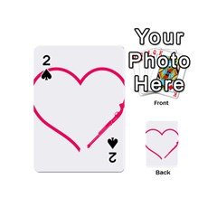 Customizable Shotgun Heart Playing Cards 54 (mini)  by CraftyLittleNodes