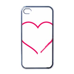 Customizable Shotgun Heart Apple Iphone 4 Case (black) by CraftyLittleNodes