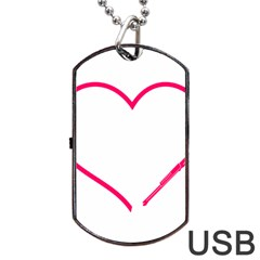 Customizable Shotgun Heart Dog Tag Usb Flash (one Side) by CraftyLittleNodes