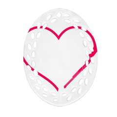 Customizable Shotgun Heart Oval Filigree Ornament (2 Side)  by CraftyLittleNodes