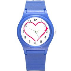 Customizable Shotgun Heart Round Plastic Sport Watch (s) by CraftyLittleNodes