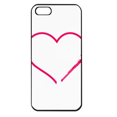 Customizable Shotgun Heart Apple Iphone 5 Seamless Case (black) by CraftyLittleNodes