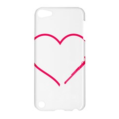 Customizable Shotgun Heart Apple Ipod Touch 5 Hardshell Case by CraftyLittleNodes