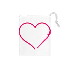 Customizable Shotgun Heart Drawstring Pouches (small)  by CraftyLittleNodes