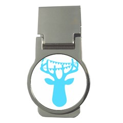 Party Deer With Bunting Money Clips (round)