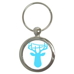 Party Deer With Bunting Key Chains (round)  by CraftyLittleNodes