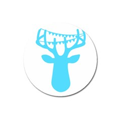 Party Deer With Bunting Magnet 3  (round) by CraftyLittleNodes