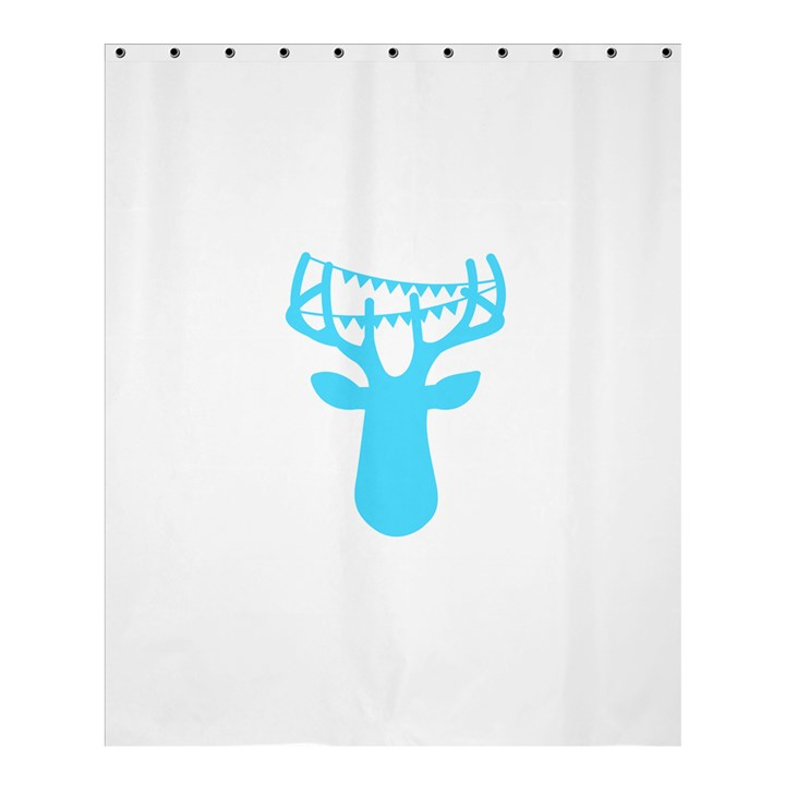 Party Deer With Bunting Shower Curtain 60  x 72  (Medium)