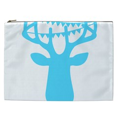 Party Deer With Bunting Cosmetic Bag (xxl)  by CraftyLittleNodes