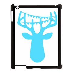 Party Deer With Bunting Apple Ipad 3/4 Case (black) by CraftyLittleNodes