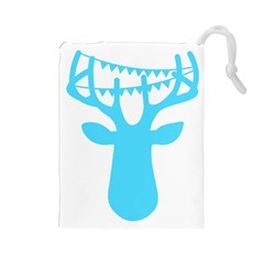 Party Deer With Bunting Drawstring Pouches (large)  by CraftyLittleNodes