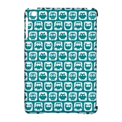 Teal And White Owl Pattern Apple Ipad Mini Hardshell Case (compatible With Smart Cover) by creativemom