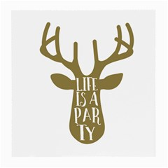 Life Is A Party Buck Deer Medium Glasses Cloth by CraftyLittleNodes