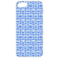 Blue And White Owl Pattern Apple Iphone 5 Classic Hardshell Case by creativemom