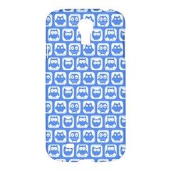 Blue And White Owl Pattern Samsung Galaxy S4 I9500/i9505 Hardshell Case by creativemom
